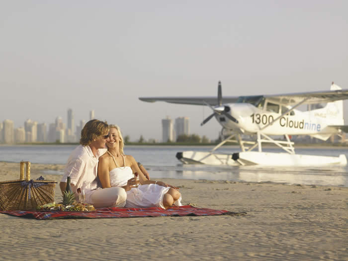 Romantic Island picnics with Cloud 9 Seaplanes